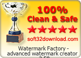 Watermark Factory - advanced watermark creator 2.58 Clean & Safe award