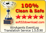 WinAgents EventLog Translation Service 1.5.0.90 Clean & Safe award